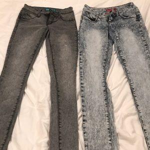 Blue and gray acid wash WannaBettaButt? YMI jeans